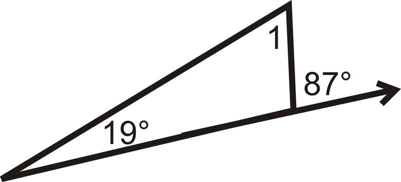 Use the following picture for the next three problems - Which of the following are exterior angles ...
