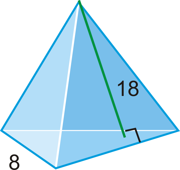 Triangle Pyramid Surface Area images