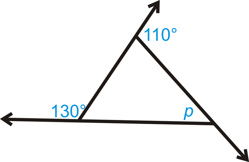 First we need to find the missing exterior angle we will for Exterior angle theorem